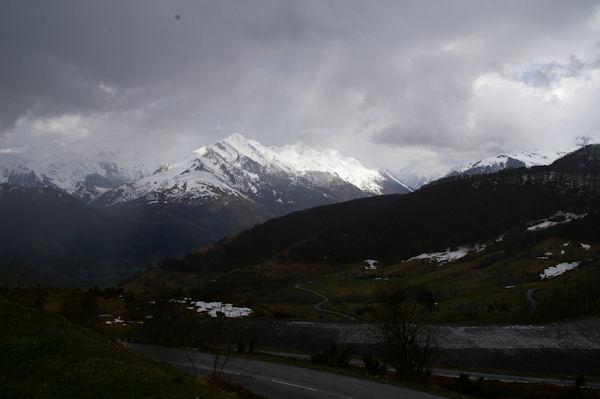 Le Pic du Midi d_Arrens depuis le parking de la Couraduque