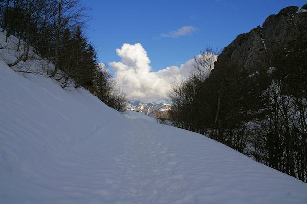 En arrivant au Col de Bazès