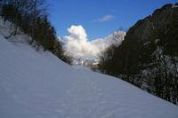 En arrivant au Col de Bazes