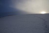 Derniers rayons du soleil sous le Col de Nestes