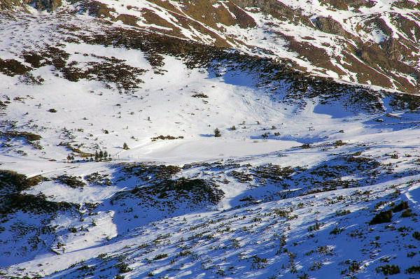 Vue du lac de Soum gelé