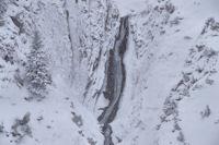La cascade du Bernet, la neige redouble!