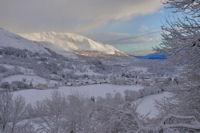Le Val d'Azun, au fond, le Soum de la Pene, bien blanc