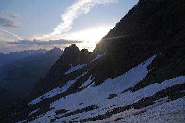 Jeu de soleil sur la crête Nord du Pic des Sarradets