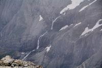 La grande cascade du cirque de Gavarnie depuis le Casque du Marbore