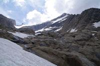 Le Taillon depuis le haut de la cascade du glacier du Taillon