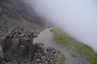 La route de Col de Tentes au Port de Boucharo encombre de rochers