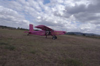 Le Pilatus sur l_aérodrome de Castelnau Magnoac