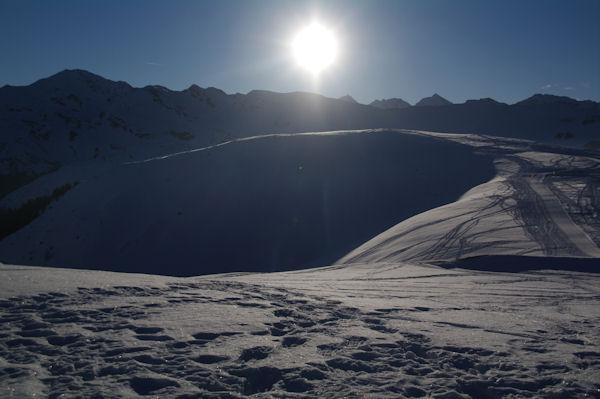 Le Haut de Courbes, derrieère, le Pic de Montaigu et le Pic du Midi de Bigorre