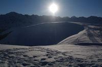 Le Haut de Courbes, derrieere, le Pic de Montaigu et le Pic du Midi de Bigorre
