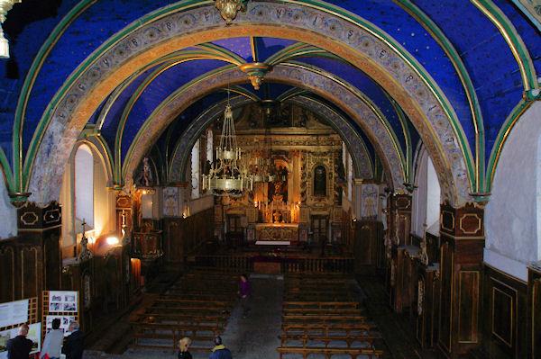 La Chapelle de Pouey Laun depuis la tribune