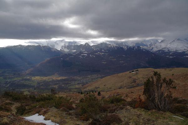 Le Val d_Azun depuis le Col de Couret