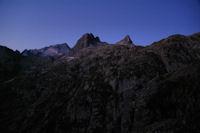 Pic de Balaitous, Pique de l'Arriougrand et Pic Cadier au petit matin