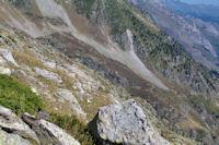 Le chemin normal menant au refuge de Migouelou