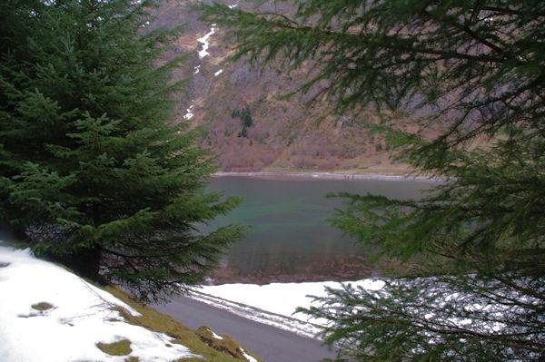 Le Lac d_Estaing depuis le bois d_Estagnet
