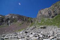 Le verrou a franchir pour acceder au pied du col d'Estaragne
