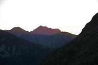 La pointe de l'Arbizon au lever du soleil