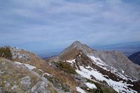 Le Pic d'Estibete depuis le Soum d'Arrouy