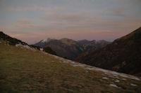 Moulle de la Jaut enneigee et Pic Mondragon depuis le Col d'Ansa