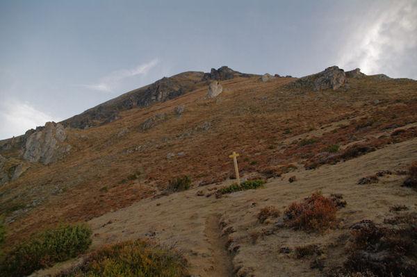 Au pied du Soum de Granquet à la bifurcation à gauche pour aller vers le Pic d_Estibète