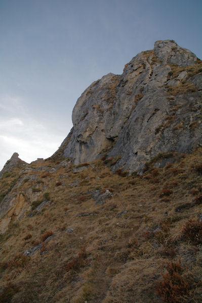 Premier ressaut rocheux sous le Soum de Granquet