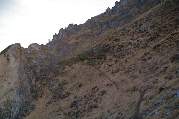 Une succession de petit vallons raides sous le Soum de Granquet