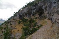 Le chemin remontant vers la Hount Blanque