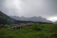 Tour et Casque du Marbore, Breche de Roland, Taillon et Gabietous depuis le plateau de Pailla
