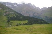 Le Plateau de Pailla, en fond, le Cirque de Gavarnie