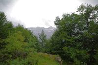 La Casque et la Tour du Marbore depuis le Bois de Pailla