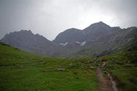 Pic Rouge de Pailla et Astazous depuis le plateau de Pailla