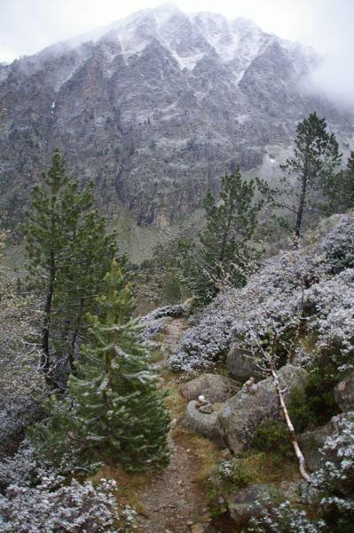 Le pic de Lurtet sous la neige de juin