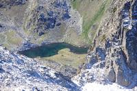 La Breche du Barbat et le Lac Long depuis le Grand Barbat