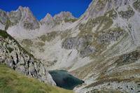 Le Lac Nere, en fond, le Pic de Maleshores et La Taillante