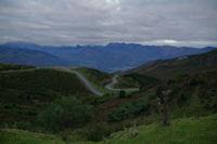 Le vallon du ruissseau d'Estibos, au fond, la vallee d'Argeles Gazost