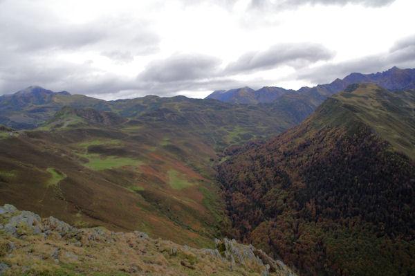 La Vallée d_Isaby depuis le Soum de Maucasau