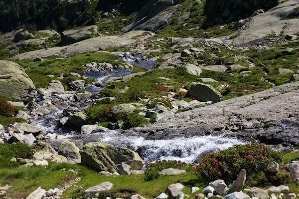 Le ruisseau descendant du Glacier du Pabat