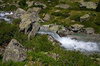 Les eaux bouillonnantes du Larribet