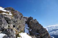 Une petite breche avant d'arriver au Pic de Lary