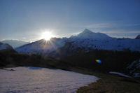 Lever de soleil sur le Pic de Larrue