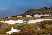 La cabane sous le Col d'Andorre