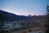 La vallee du Bergons dans la gelee matinale