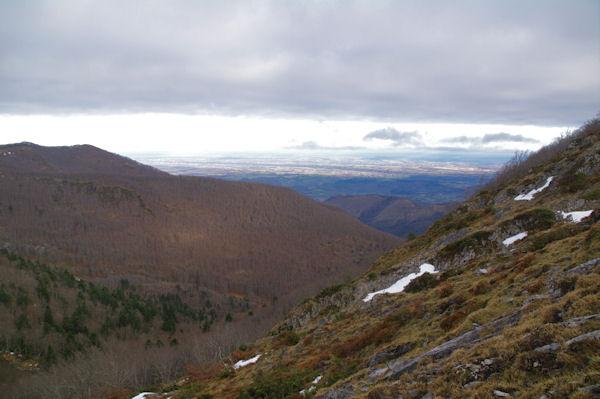 La plaine de Pau depuis le Col d_Andorre