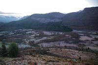 La vallee du Bergons dominee par le Pic de Peyre et le Pic d'Arragnat