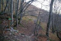 L'embranchement pour partir vers le Col d'Andorre