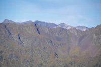 Les sommets du Cirque de Troumouse dont le Pic de la Munia a gauche derriere la crete d'Escalet