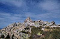 Le cairn au sommet du Pic de Madamete