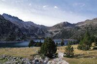 Le Lac d'Aubert et la Hourquette d'Aubert