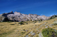 Le Pic de Neouvielle et la crete d'Espade
