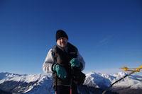 Fred au sommet du Soum de Maucasau